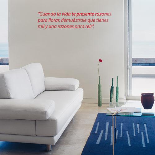 Textos de vinilos personalizados at vinilos decorativos - Vinilos personalizados pared ...
