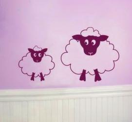 Vinilo infantil ovejas