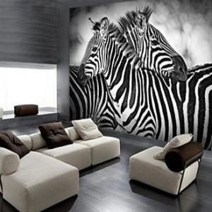 zebras fotomural